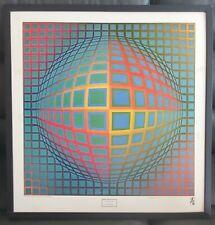 Vtg Original Exhibition Poster Vega-Nor Vasarely Op Art Abstract Albright-Knox