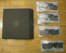 Set of 4 Brand New Samsung SSG-4100GB 3-D Glasses - Free Shipping & No Reserve!