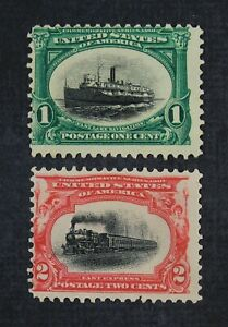 CKStamps: US Stamps Collection Scott#294 295 1c 2c Unused NG