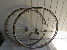 PEUGEOT  EARLY MALLIARD HUBS MAVIC RIMS SEW UPS 36 HOLE  WHEELS VINTAGE