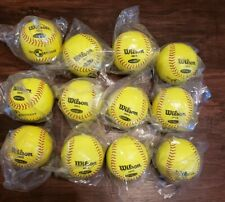 1 Dozen Wilson 10 Inch Level 1 Soft Compression Super Seam Softballs A9318