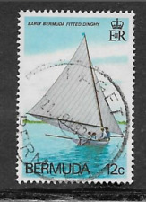 BERMUDA POSTAGE STAMP - USED COMMEMORATIVE - FITTED DINGHIES, OLD & MODERN 1983