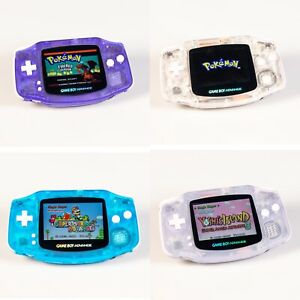 Nintendo Game Boy Advance GBA Glacier System IPS Brighter Backlit Games Included