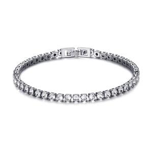 Silver 3mm Tennis Bracelet Created with Swarovski® Crystals by Philip Jones