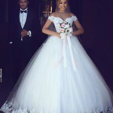 2018 White Ball Gown Wedding Dress Plus Size Vestido De Noiva Lace Bridal Gowns