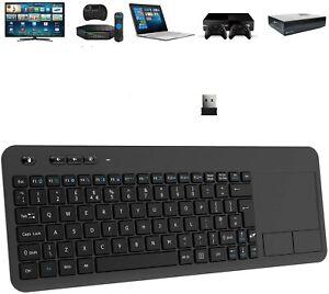 Wireless Keyboard, 2.4G Wireless Keyboard with Touchpad Black - UK Layout