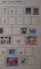 kleine Briefmarkensammlung Birma ab 1946 (112074)