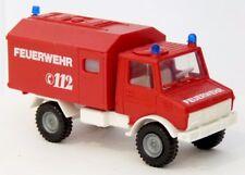 Roco 1364 - MB Unimog U1300 KTW RTW Tragenwagen Feuerwehr neutral rot - 1:87 H0
