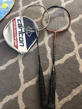 2 Badminton Rackets. Carlton Slazenger Used.