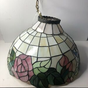"""Tiffany Style Vintage Hanging Ceiling Lamp Stained Glass Light Chandelier 20"""""""