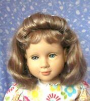 BELINDA Auburn Streak Full Cap Doll Wig SZ 14-15 Med. Length, Wavy