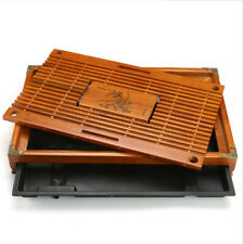 Luxury Solid Wooden Gongfu Tea Tray Chinese Serving Table Plate For 2-4 People