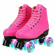 New listing KYIS High-top Roller Skates for Women Classic Four Wheels Roller Skates with ...