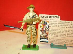 1984 GI JOE RECONDO JUNGLE TROOPER INFANTRYMAN & RARE CARD ARAH VINTAGE cobra *