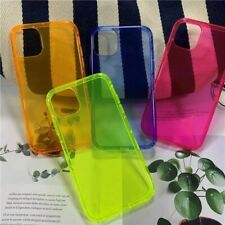 For iPhone 11 Pro Max XR 8 7 X/SE 2020 Fluorescence Color Clear Phone Case Cover
