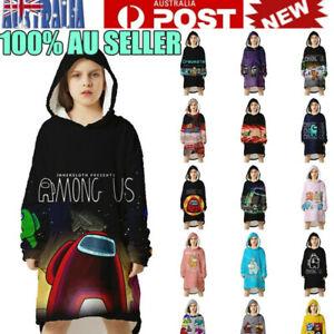 Kids Boys Girls Adult Among Us Blanket Sweatshirt Hoodie Plush Soft Warm Hoodies