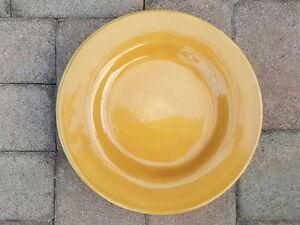 1 Pottery Barn SAUSALITO AMBER Yellow Art Dinner Plate Hand Painted 12.5/12.25