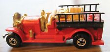 Matchbox metal Old Fashioned Red #5 Fire Engine, Black Ladders ,lot of Brass