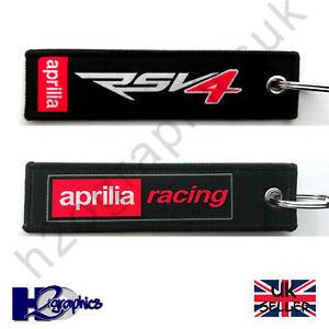 New Aprilia RSV4 Embroidered Keyring Key Chain UK Seller Fast Shipping