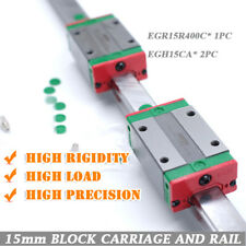 HIWIN 1pc EGR15 400mm Linear Guide Rail + 2Pcs EGH15CA Block Carriages for CNC