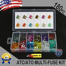 180 Pack ATC ATO APR ATS Blade Fuse Assortment Auto Car Motorcycle SUV FUSES Kit