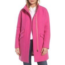 NWT J.Crew Cocoon Coat in Italian Stadium Wool Sz 4 Vivid Flamingo $350 Jacket