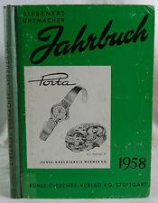 Diebeners Uhrmacher Jahrbuch 1958.