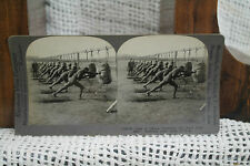 lot of 2 antique old WWI PHOTOS bayonet class American army camp Belleau wood
