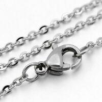 "Stainless Steel Necklace 18"" Hypoallergenic Cross Link Design - N120"