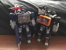 Transformers War for Cybertron Siege Voyager Soundwave & Soundblaster LOT