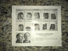 "*RARE* 1934 ""FAT"" CHARLES MAKLEY, DILLINGER PARTNER FBI WANTED POSTER *PLS OFFER"