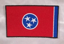 "Embroidered Tennessee State Pride Flag Large 5"" TN Patch Souvenir Iron On Sew"
