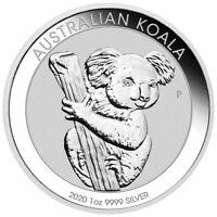 2020 P Australia 1 oz Silver Koala $1 Coin GEM BU Delay SKU60331