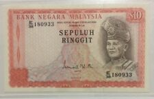 Malaysia 2nd Series $10 Ringgit Paper Note In VF Condition.