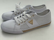 NEW! GUESS FOLLOW WOMEN'S WHITE LEATHER SNEAKERS SHOES 9 39 SALE