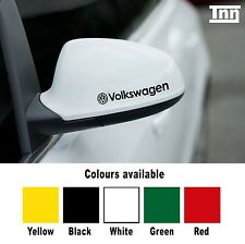 VOLKSWAGEN VW 2 X Ala Espejo Decal Sticker Coche Golf Polo BORA Scirocco Passat