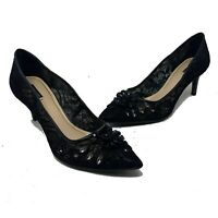 Alex Marie Sz 10 Black Lace Rhinestone Pumps Heels Dressy Formal Style: LACIE