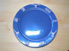 "Frankoma USA RANCH NAVY BLUE Round Serving Platter 13""  pics are light"