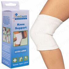 2x White Tubular Knee Support Sleeve EXTRA LARGE Elastic Medical/Sport Leg Thigh