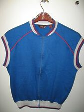 Line-Up Line Up Vintage 1980's Disco Thriller Zipper Vest Sweatshirt Shirt Large