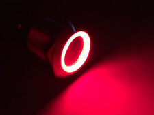 MARINE BOAT SS304 RED LED 12V 5A FLUSH LIGHT ON-OFF PUSH SWITCH RING BUTTON
