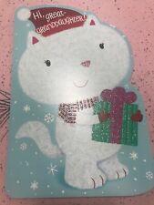 Unused Christmas Card American Greetings W/Envelope Glitter Great Granddaughter