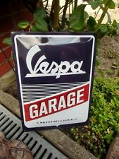VESPA Garage - LARGE Metal Wall Sign  - Made in Germany - authentic Piaggio item