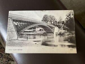 Vintage Postcard Holt Fleet Iron Bridge 1917 P60
