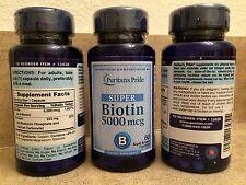 SUPER BIOTIN SKIN HAIR NAILS HEALTH STRONG CAPS 5000mcg 1 BOTTLE 60 rapid releas