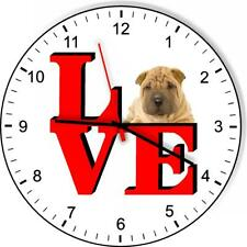 Chinese Shar-pei Cute Puppy Dog kitchen living room Wall Clock
