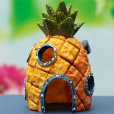 Artificial Pineapple House Sponge Bob Fish Tank Ornament Aquarium Decoration JR