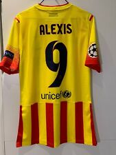 F.C.BARCELONA ALEXIS MATCH UNWORN SHIRT NIKE (SPAIN CHILE ARSENAL INTER)