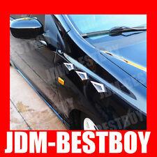 UNIVERSAL BLING Chrome Swarovski Crystal Fender side Vent Hood Decal Badge