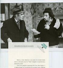 ABE VIGODA JOHN LAMOTTA FISH TV SHOW ORIGINAL 1977 ABC TV PHOTO